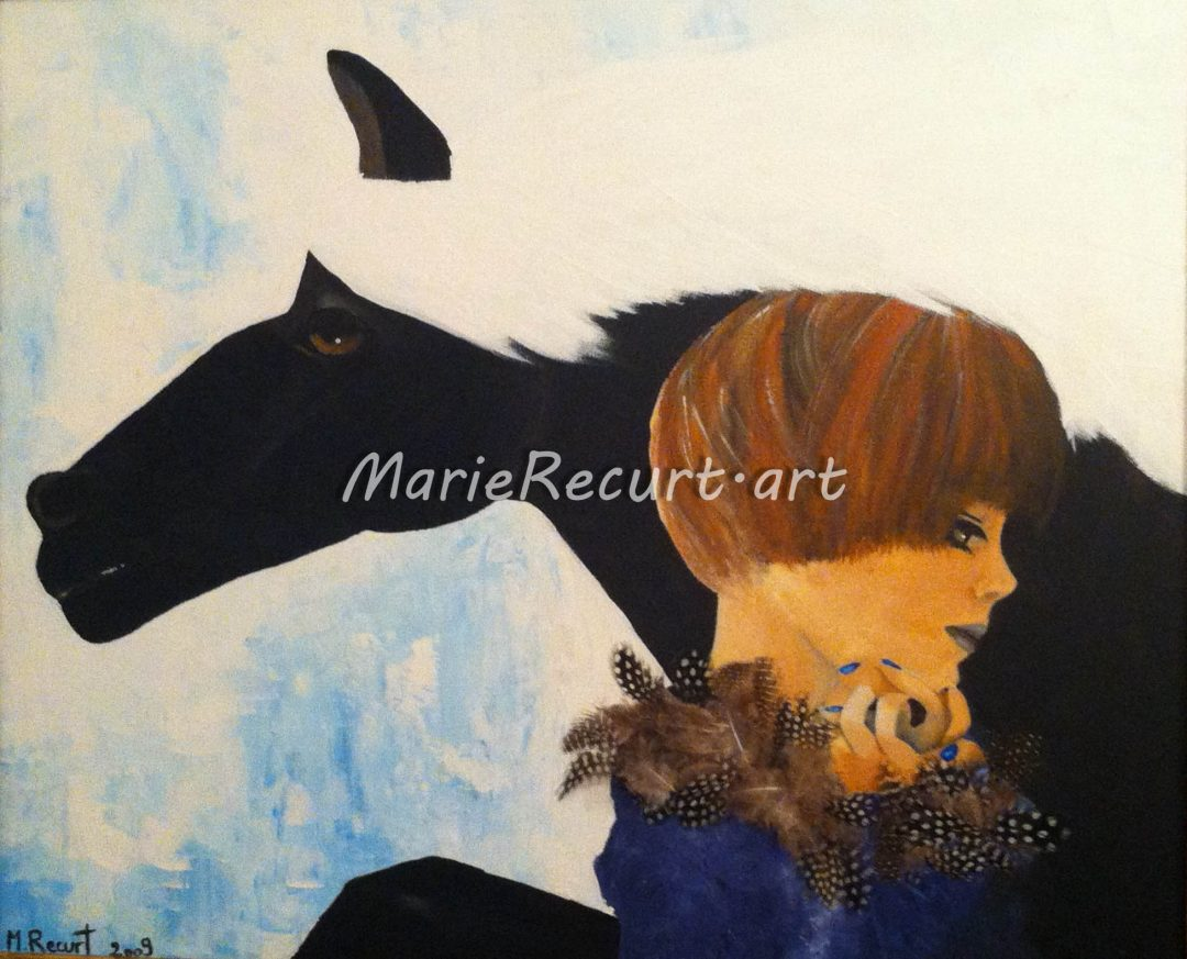 La petite fille au cheval