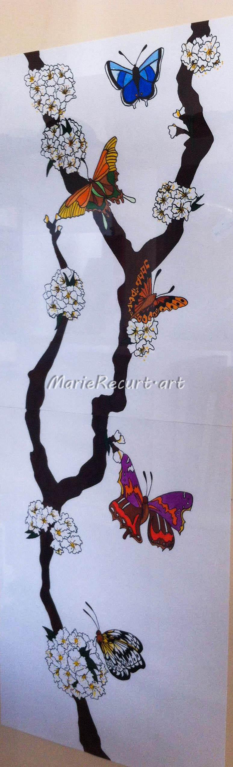La branche aux papillons