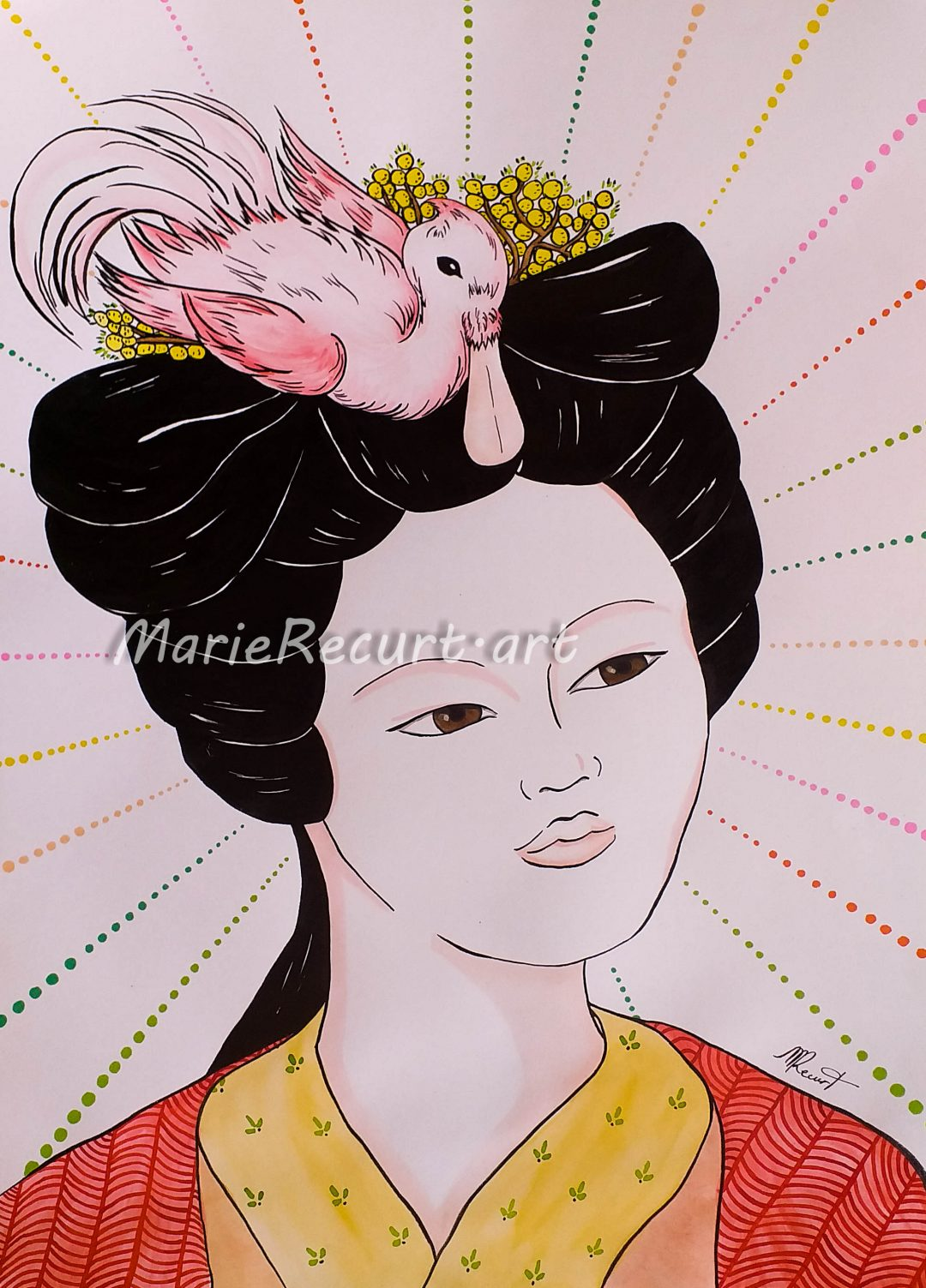 La demoiselle au mimosa